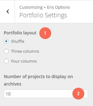 eris-portfolio-settings