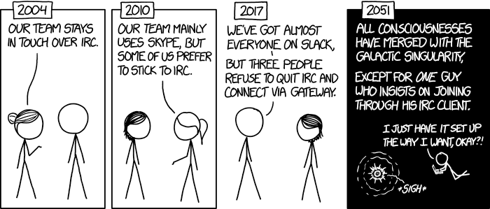 Team Chat Comic by XKCD